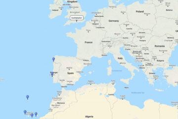 cruise to Vigo, Madeira, La Palma, Gran Canaria, Lanzarote & Lisbon
