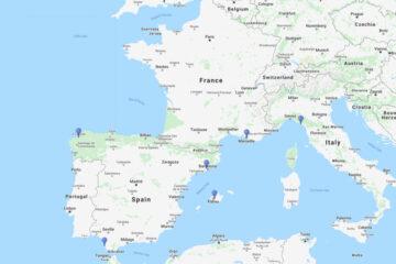14-day cruise to La Coruna, Palma de Mallorca, La Spezia, Marseilles, Barcelona & Cadiz