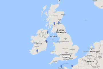 12-day British Isles cruise (with Kirkwall) on board Royal Princess route