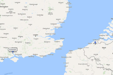 2-day Belgium mini cruise to Bruges (Zeebrugge) route